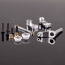 Buy RC CAR 1/10 Aluminum Bearing Steering Bell crank Assembly 1:10 Silver TAMIYA CC01 CC048 for $14.24 in AliExpress store