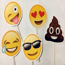 5pcs emoji party supplies photo booth props birthday gift photobooth decor wedding favor baby bridal shower kids funny mask