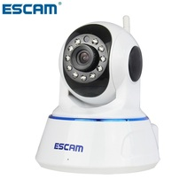 ESCAM QF002 720P CCTV Security Camera Plug&Play WiFi Pan Tilt IR Cut Night Vision Two Way Audio SD Card Camera