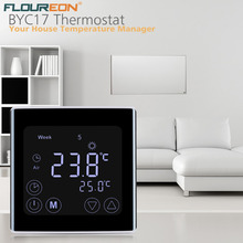 Floureon Weekly Programmable Underfloor Heating Thermostat LCD Touch Screen Room Temperature Controller Touch HeatingThermostat