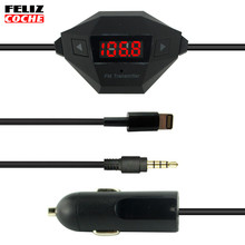 USB 3In1 Car FM Transmitters FM Audio Radio Transmitter Charger Hand-free for iPhone iPad iPod A1209