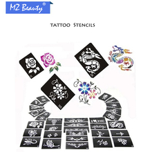 50 Mixed Design Sheets Stencils for Body Painting Glitter Temporary Tattoo Kit 2016 Latest temporary tattoo stickers Templates
