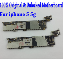 100% Full Completely Original & Unlocked 16G Mainboard For iphone 5 5g Motherboard with Chips,100% Good Working Free Shipping(China)