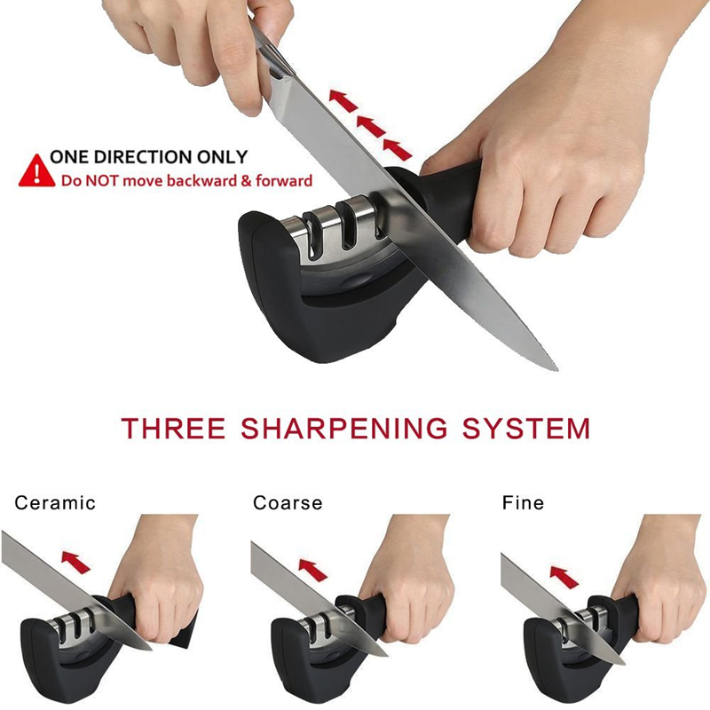 New Design Diamond Stainless Steel 3 Stages Professional Knife Sharpener for Stainless Steel Knife and Ceramic Knife 5