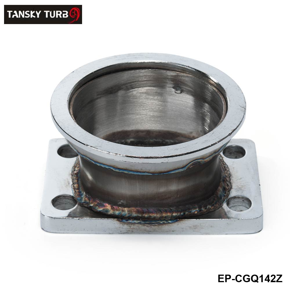 """TANSKY - Steel Adaptor for T3 4Bolt to 3"""" V-Band Flange For Toyota Acura Honda BMW EP-CGQ142Z"""
