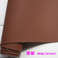 Deep Brown PU Leather Faux Leather Fabric Imitation Leather Car Interior Leather Car Seat Sold BTY