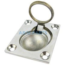 Marine Stainless Steel Flush Mount Pull Ring Hatch Latch Handle Boat Caravan(China)