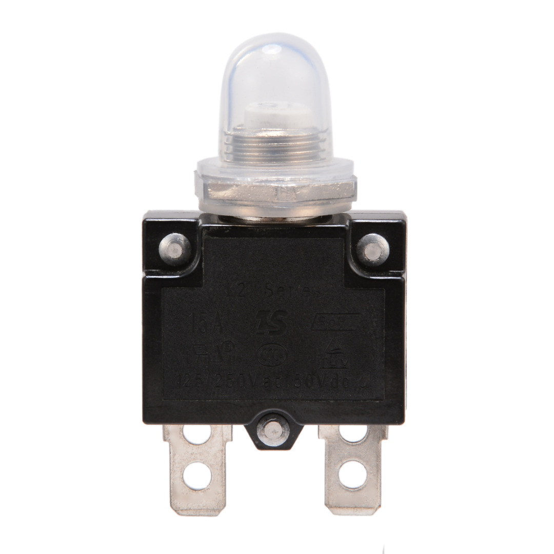 1X 5A/10A/15A/20A/30A Circuit Breaker 12V/24V Push Button Resettable Thermal Circuit Breaker Panel Mount With Waterproof Cap