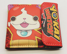 Youkai Watch Wallets Japanese Anime Game Short PU Leather Purse Character Snap Color Print Red Wallet Card Photo Holder(China)