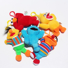 50pcs/lot Anime Sesame Street Elmo Cookie Big Bird Ernie Bert Plush Toys Stuffed Doll 13cm Free Shipping(China)