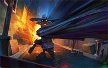Hot Sale Abstract company comics explosions darkwing duck digital art artwork 4 Sizes Silk Fabric Canvas Poster Print on canvas