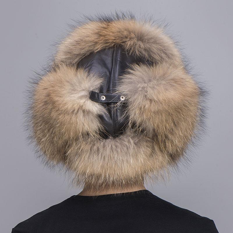 big fur hat raccoon fur 2
