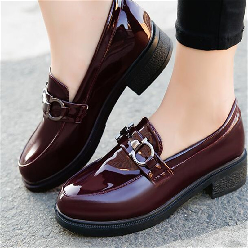 2017 Shoes Woman Leather Flats Ladies Shoes High Quality Shoes Women Top Casual Work Loafers Shoes oxford prom<br>