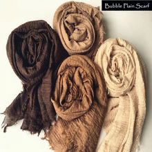 Hot sale bubble plain scarf/scarves fringes women soft solid hijabs popular muffler shawls big pashmina muslim wrap new designs