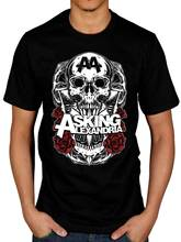 New Arrivals Men'S Asking Alexandria Black Shadow T Shirt Afterlife Reckless Relentless Design T Shirt Hipster Tops Cool Tees(China)