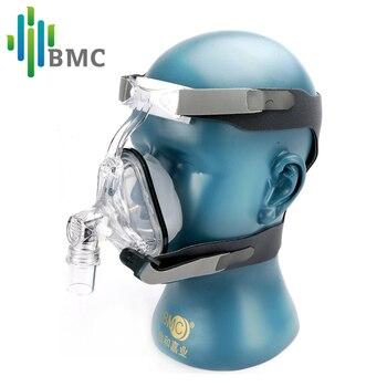 BMC NM1 Nasal Mask носовая маска для CPAP аппарата с размером S / M / L помогает пациентам с храпом получить эффективную терапию имеется держатель и силиконовый гель просто мыть