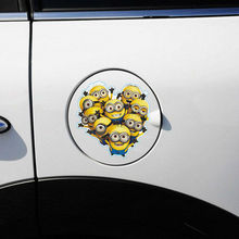 Car Stickers for fuel Cap Car tank Funny Cartoon Despicable Me Minions Movie Sticker Auto Car Vinyl Decal Truck Glass Waterproof