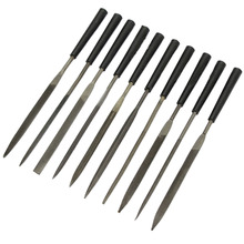 10pcs/set Glass Stone Jewelers Diamond Wood Carving Craft 10 unique Shapes Metal Needles Files Sewing Sets