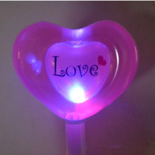 LED Light Up Love Heart Shaped Balloon Flashing Sticks Inflatable Stick Balloons Kids Birthday Wedding Party Photo Props Decor