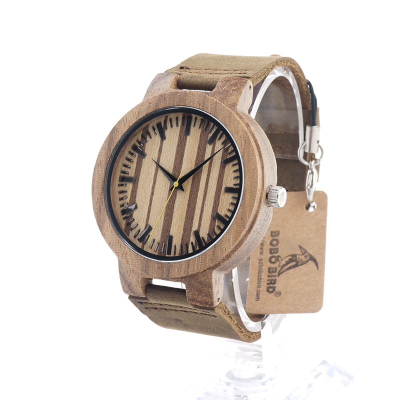 BOBO BIRD C21 Mens Design Brand Luxury Wooden Bamboo Watches With Real Leather Quartz Watch for Men In Gift Box<br><br>Aliexpress