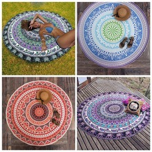 Mandala Tapestry Wall Tapestry Wall Hanging Blanket Indian Summer Beach Wrapped Skirt Tablecloths Tapestry(China)