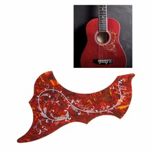 Hot Sell Acoustic Guitar Pickguard Golden Hummingbird Scratch Plate Pickguard Red(China)