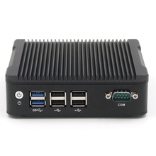 Intel NUC N3160 Mini PC Windows 10 Linux PFsense Fanless Barebone Micro Computer 2 LAN Desktop Industrial PC Server Minipc(China)