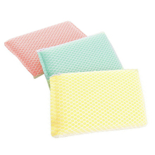 3pcs/pack Washable Reusable Pure Bamboo Fibre Dishcloth Oilproof Non-sticking Double-deck Waste-absorbing Cleaning Cloths GF174(China)