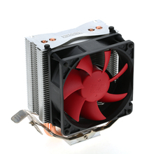 PCCOOLER CPU Cooler Fan 3pin 2 Heatpipes Radiator Quiet Mini CPU Cooler Heatsink Cooling Fans with 80mm Fan for Desktop Computer