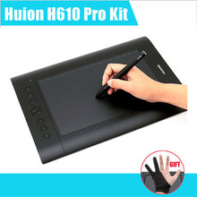 "Huion H610 Pro Art Graphics Drawing Tablet 10""x6.25"" with Rechargeable Digital Pen for Mac and Windows"