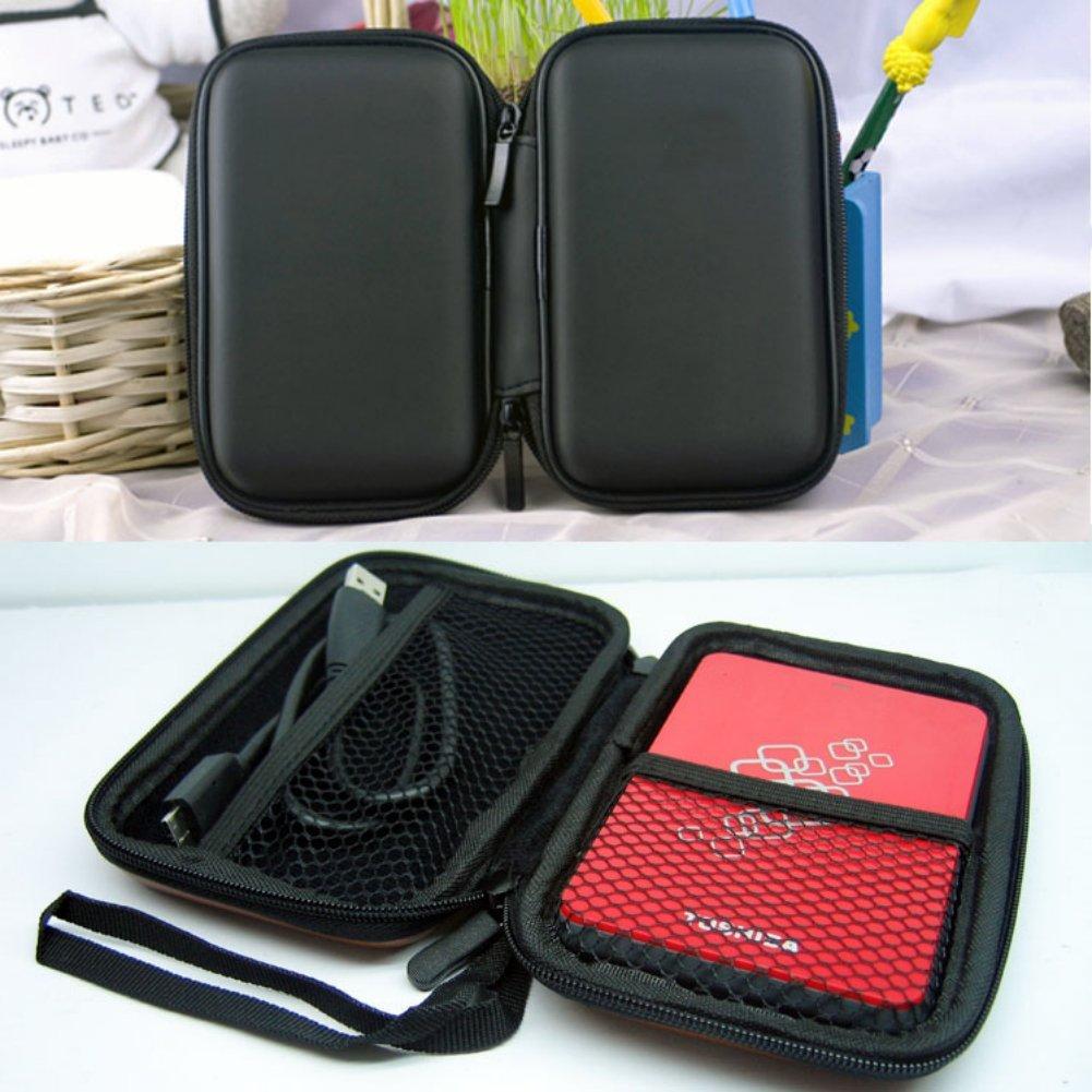 YOC-Portable Hard Disk Drive Shockproof Zipper Cover Bag Case 2.5 HDD Bag Hardcase Black<br><br>Aliexpress