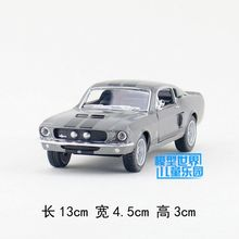 Gift for baby 1:38 1pc 13cm delicacy cobra GT500 Ford mustang 1967 alloy police man car model home decoration boy children toy