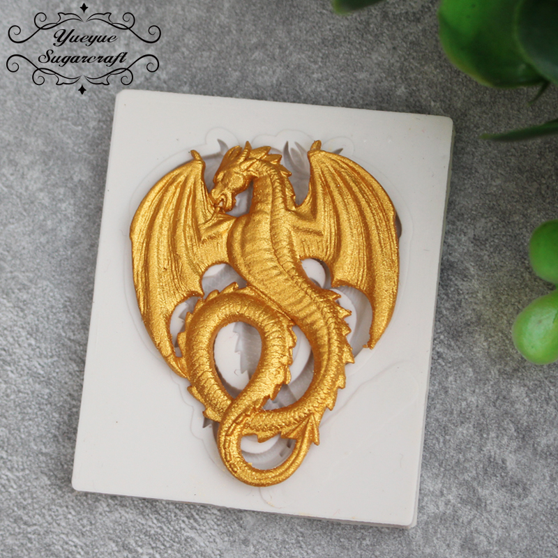 Yueyue Sugarcraft Dragon silicone mold fondant mold cake decorating tools chocolate gumpaste mold(China (Mainland))