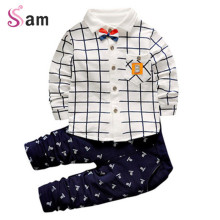 2017 New Fashion Kids Clothes Spring Baby Boys Clothing Sets Shirt + Trousers Toddler Boys Clothing Baby Boy Clothes Brand