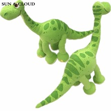SUN & CLOUD 1 Pcs The Good Dinosaur Green Arlo Dinosaur Stuffed Animals Plush Soft Toys for Kids Gift(China)
