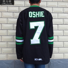 MeiLunNa Christmas Black Friday UND North Dakota Fighting Sioux #7 TJ Oshie 0703 Black Alternate Jersey(China)