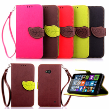 For Microsoft Nokia Lumia 640 Case Leather Wallet Flip Cover For Nokia Lumia 640 N640 With Silicon Back Stand+Hand Strap N640(China)