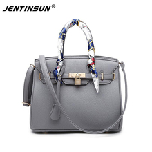 Fashion European and American women handbags PU Leather Pure Colour Luxury Lady Platinum package Shoulder Messenger big bags