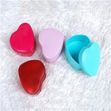 Cute Heart Shape Metal Tin Trinket Storage Case Gift Box For Wedding Party Suppl