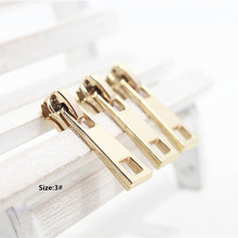 3# Wholesale 10pcs Zipper nice gold  Metal Zipper Pulls zipper Head For Handbag/ Backpack/Clothing/Sewing Tailor Tools,t41