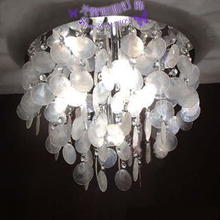 Natural white shell ceiling light crystal lamp ceiling light brief fashion ceiling light lamps Small