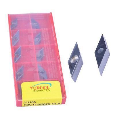 10 STK YUTOOLS carbide insert VBGT110302R CNC Turning lathe inserts New<br>