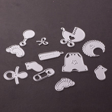 Buy Baby Products, 12pcs Cutting Dies Stencils DIY Scrapbooking Card Paper Craft Photo Album Painting Embossing Decorative Craft for $2.79 in AliExpress store
