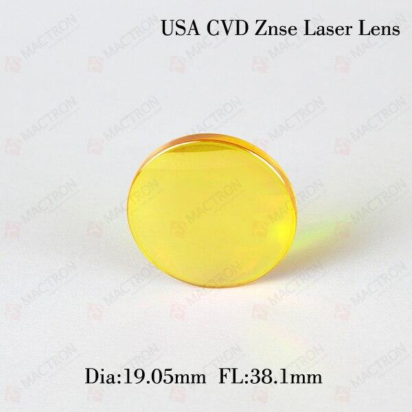 co2 Laser Focus Lens(USA CVD Znse Material, Dia 19.05MM,FL 38.1MM)<br>