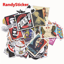 50 Pcs Mixed Funny Hit Stickers For Kids Home Decor Decal On Laptop Sticker Decal Skateboard Doodle Toy Sticker(China)
