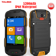 5200mAh battery IP68 4G LTE Waterproof Smart Phone v9t Shockproof Dustproof RAM 2GB ROM 16GB 8MP Android 5.1 Rugged cell phone(China)