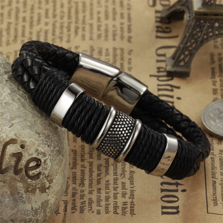 OPK-Handmade-Genuine-Leather-Weaved-Double-Layer-Man-Bracelets-Casual-Sporty-Bicycle-Motorcycle-Delicate-Cool-Men (2)