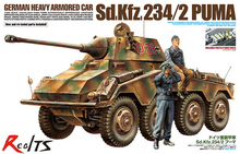 RealTS Tamiya 37018 1/35 Scale Model Kit German Heavy Armored Car Sd.Kfz.234/2 Puma