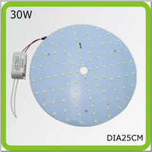 120V 220V 230V 240V 30W round LED ceiling light surface mounted disk panel led circular tube Dia25cm=60w 2D tube 2 year warranty(China)