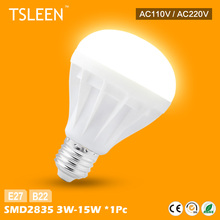 TD +Cheap+ Energy Saving B22 E27 LED Bulb Light Lamp 3W 5W 7W 9W 12W 15W Cool Warm White # TSLEEN